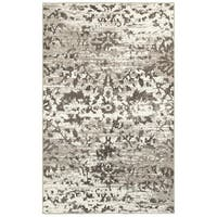 LR Home Adana White and Light Beige Indoor Accent Rug (1'10 x 3'1) - 1'10 x 3'1