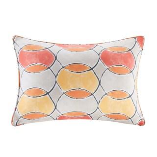 Madison Park Cayucos Printed Circles 3M Scotchgard Indoor/Outdoor Oblong Pillow 2 Color Option