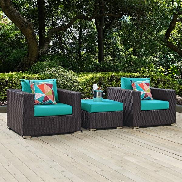 Shop Convene 3 Piece Outdoor Patio Sofa Set - On Sale ...