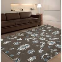 "LR Home Adana Grey / Blue Indoor Area Rug ( 5'1 x 7'5 ) - 5'1"" x 7'5"""