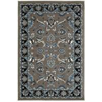 LR Home Adana Grey and Black Olefin Indoor Accent Rug - 1'10 x 3'1