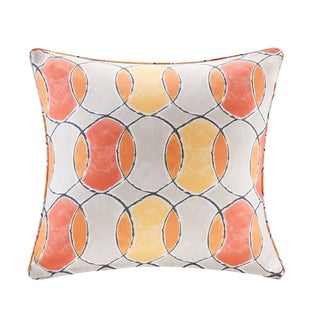 Madison Park Cayucos Printed Circles 3M Scotchgard Indoor/Outdoor Square Pillow 2 Color Option