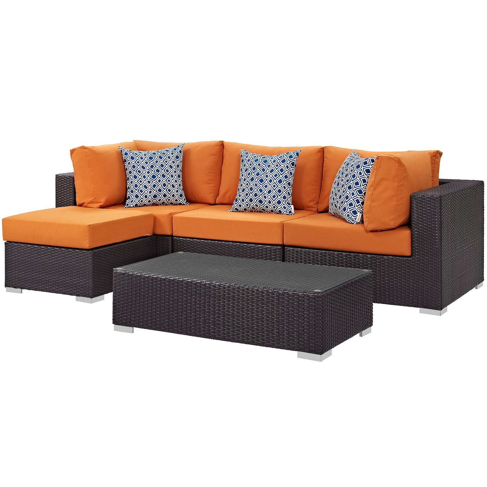 orange modway patio furniture find great outdoor seating dining rh overstock com modway patio furniture covers modway patio furniture sets