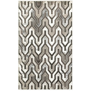L and R Home Adana Beige and Brown Indoor Accent Rug (1'10 x 3'1)