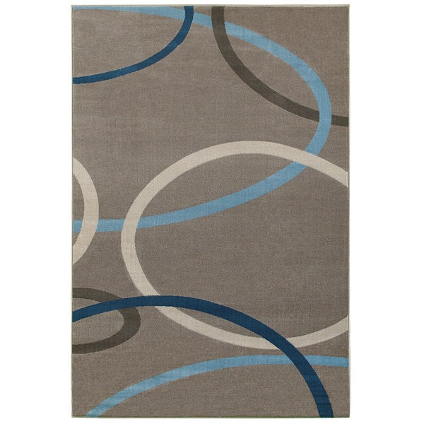 L and R Home Adana Charcoal Olefin Indoor Accent Rug - 1'10 x 3'1