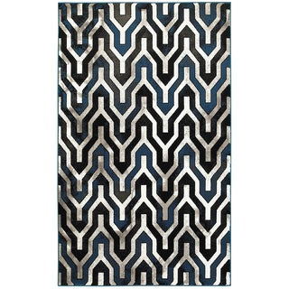 L and R Home Adana Black/White Olefin Indoor Accent Rug (1'10 x 3'1)