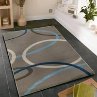 LR Home Adana Charcoal Olefin Indoor Area Rug - 9'2 x 12'6