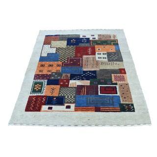 1800getarug Hand-Knotted Lori Buft Gabbeh 100 Percent Wool Oriental Rug (2'0x3'1)