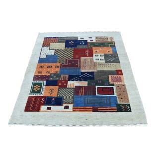1800getarug Hand-Knotted 100 Percent Wool Lori Buft Gabbeh Oriental Rug (2'10x4'3)