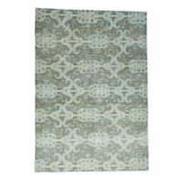 Shahbanu Rugs Ikat Uzbek Design Pure Wool Hand-Knotted Oriental Rug (10'1x14'4)