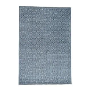 Shahbanu Rugs Handmade Pure Wool Turkish Knot Oushak Cropped Thin Rug