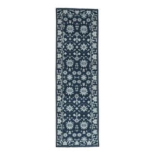 1800getarug Handmade Turkish Knot Oushak Cropped Thin Oriental Runner Rug (2'9x9'0)