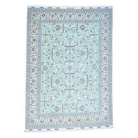Shahbanu Rugs Fine Persian Tabriz 400 Kpsi Wool and Silk Handmade Rug (9'9x13'7)