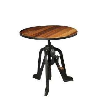 Aurelle Home Adjustable Rustic Antique Bar Table