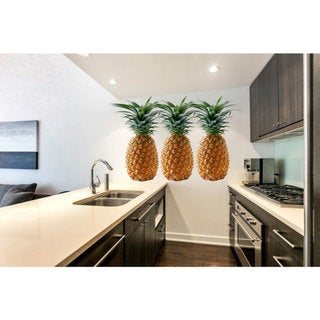 Full Color Pineapple Full Color Decal, Pineapple Full color sticker, wall art Sticker Decal size 33x