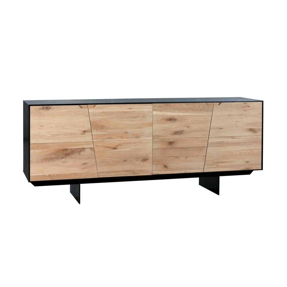 """Aurelle Home  Ida Modern Solid Wood Sideboard - 30"""" x 82"""" x 31"""" - 30"""" x 82"""" x 31"""" (Teddy)"""