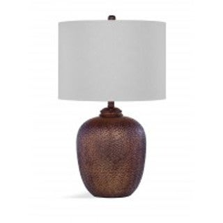 Libby 31-inch Antique Copper Resin Table Lamp