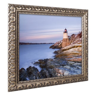 Michael Blanchette Photography 'Stone on Rock' Ornate Framed Art