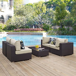 Link to Convene 5 Piece Outdoor Patio Sectional Set Similar Items in Outdoor Sofas, Chairs & Sectionals