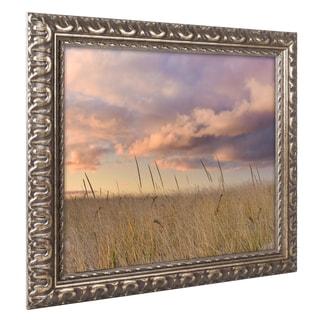 Michael Blanchette Photography 'Beachgrass Sunrise' Ornate Framed Art