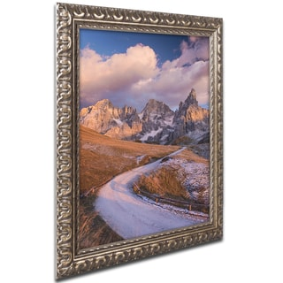 Michael Blanchette Photography 'The High Road' Ornate Framed Art