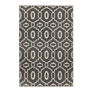 Genevieve Gorder Anchor Rectangle Smoke Flat Woven Rug (7' x 9')