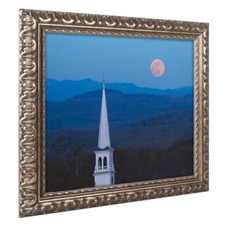 Michael Blanchette Photography 'Moon over Vermont' Ornate Framed Art