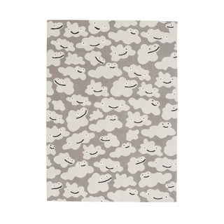 Hable Construction Sky-Puffy Rectangle Silver Machine Woven Rug (2' x 3')