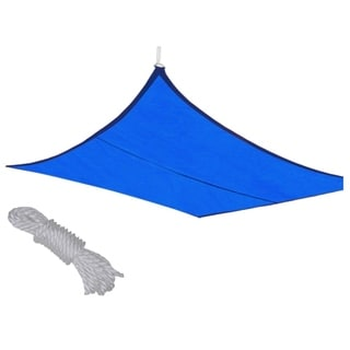 MCombo Sun Shade Sail Outdoor UV Top Cover Patio Lawn Blue Square Canopy 6055-1316B