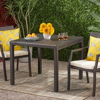 Rhode Island Outdoor Wicker Square Dining Table (ONLY) by Christopher Knight Home