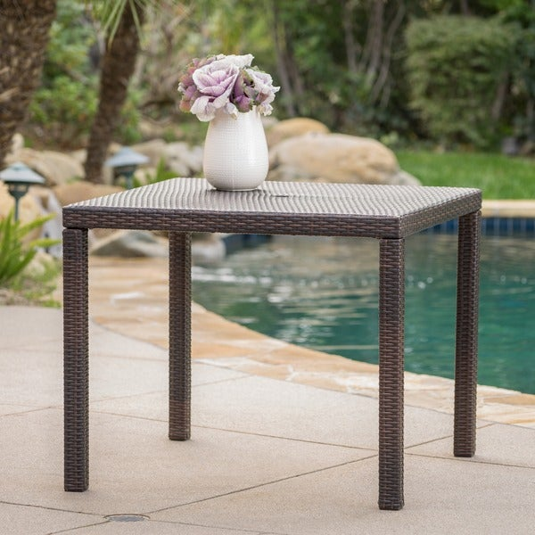 Shop Rhode Island Outdoor Wicker Square Dining Table ONLY By - Outdoor dining table only
