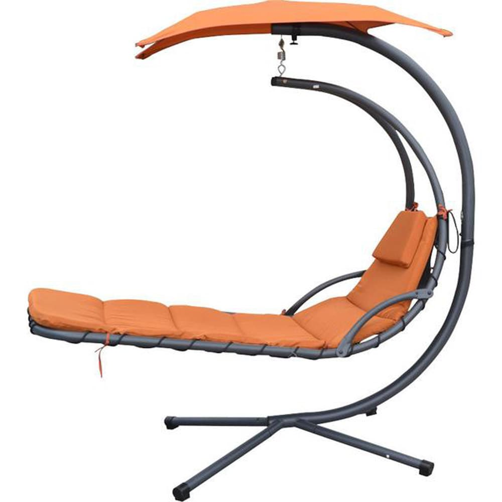 MCombo Hanging Chaise Lounger Chair Arc Stand Swing Hammo...