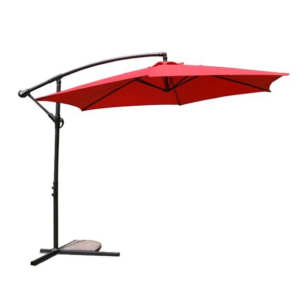 MCombo 10ft Steel Umbrella Patio Sun Shade Beach Crank Tilt Parasol