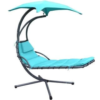 MCombo Hanging Chaise Lounger Chair Arc Stand Air Porch Swing Hammock Chair Canopy 1000BL
