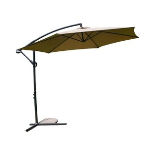 MCombo 10ft Steel Umbrella Patio Sun Shade Beach Crank Tilt Parasol