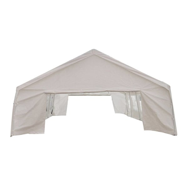 MCombo White 20x26-foot Heavy-duty Carport/ Party Canopy Tent  sc 1 st  Overstock & MCombo White 20x26-foot Heavy-duty Carport/ Party Canopy Tent ...