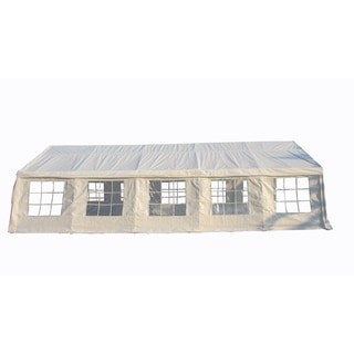 MCombo New White 32x16 ft Heavy Duty Carport and Party Canopy Tent