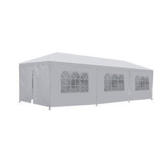 MCombo 10'x30' White Canopy Party Tent 8 Removable Walls