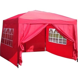 MCombo 10x10 ft EZ POP UP 4 WALLS CANOPY PARTY TENT GAZEBO WITH SIDES 6051-1010R
