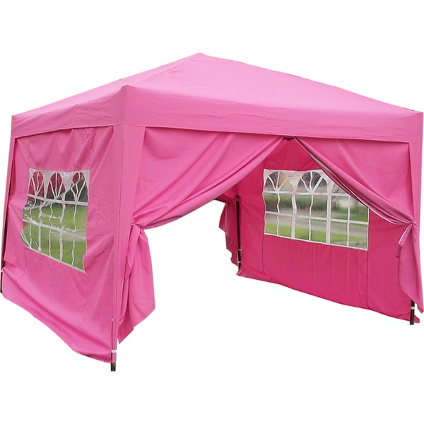 MCombo 10x10 ft EZ POP UP 4 Walls Canopy Party Tent Gazebo With Sides  sc 1 st  Overstock.com & MCombo 10x10 ft EZ POP UP 4 Walls Canopy Party Tent Gazebo With ...