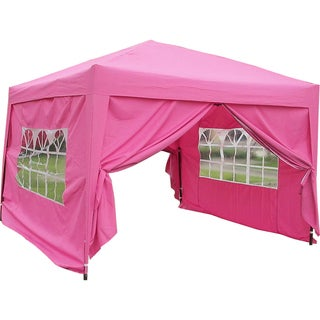 MCombo 10x10 ft EZ POP UP 4 Walls Canopy Party Tent Gazebo With Sides