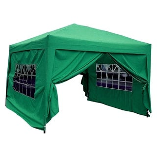 MCombo 10x10 ft EZ Pop-Up 4-Walled Canopy Party Tent Gazebo w/ Sides 6051-1010G