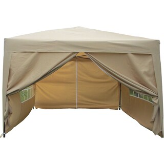 MCombo 10'x10' EZ-Pop-Up 4-Walled Canopy Party Tent Gazebo with Sides