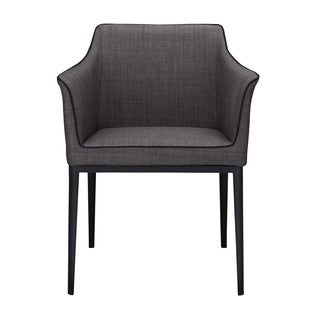 Aurelle Home George Black Modern Arm Chair