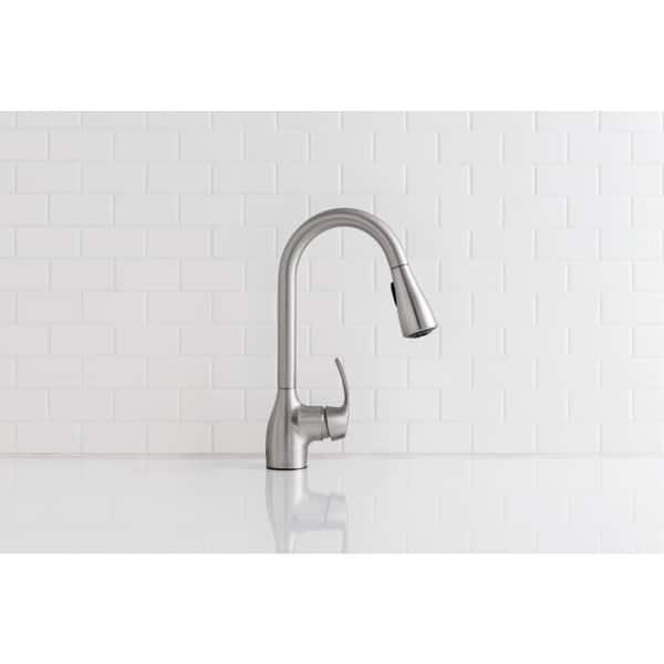 Shop Moen Kleo Pullout Spray Single Hole 1 Kitchen Faucet ...
