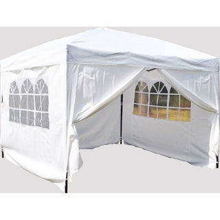 MCombo 10x10 Foot EZ Popup 4 Wall White Canopy Party Tent