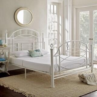 Sleep Sync Sandra Decorative White Queen Metal Platform bed