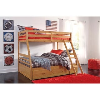 Signature Design by Ashley Hallytown Light Brown Twin Bunk Bed