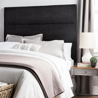 Humble + Haute Hereford Black Suede Upholstered Headboard