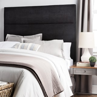 Humble + Haute Hereford Queen Size Black Suede Upholstered Headboard